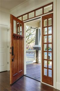 ... Fine Vertical Grain, Craftsman Style Front Doors Often Feature An  Elegant Ornamental Shelf Called A U201cdentilu201d Thatu0027s Missing From Most Other  Door Styles.